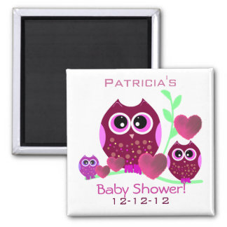 Owls & Hearts Baby Shower Magnet
