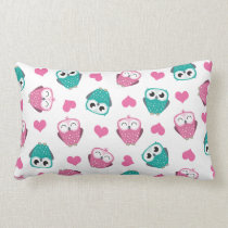 Owls & Hearts Lumbar Pillow
