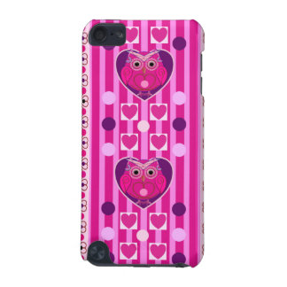 Owls hearts polka dots stripes iPod touch case