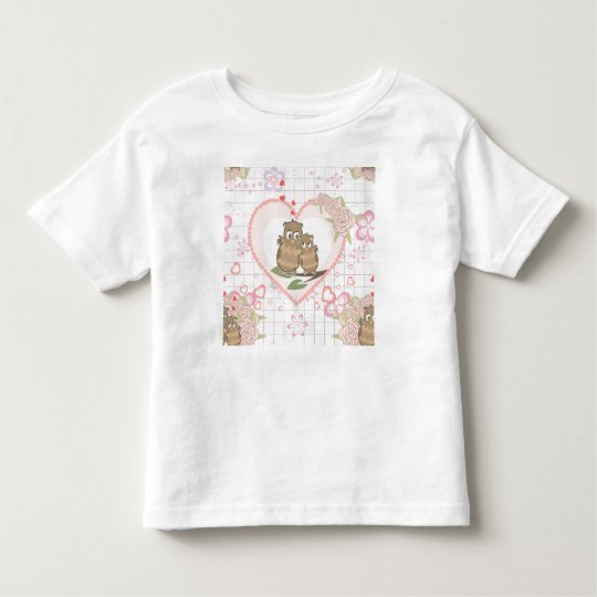 Owls Hearts Roses Toddler T-shirt