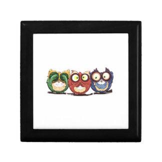 Owls Hoot See Speak Hear No Evil Keepsake Boxes