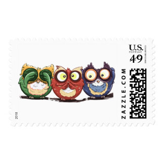 Owls Hoot See Speak Hear No Evil Postage
