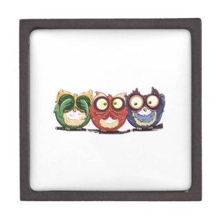 Owls Hoot See Speak Hear No Evil Premium Jewelry Boxes