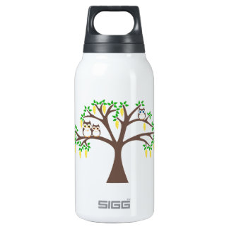 Owls in a Laburnum Tree Insulated Water Bottle