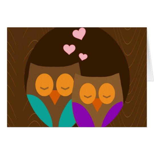 Owls in a Nest Card