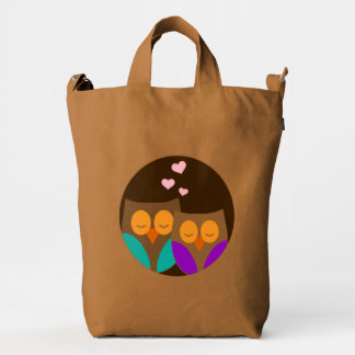 Owls in a Nest Duck Bag