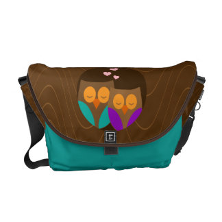 Owls in a Nest Messenger Bag