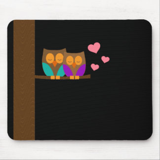 Owls in a Nest Mouse Pad