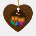 Owls in a Nest Ornament