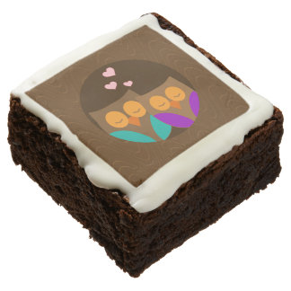 Owls in a Nest Square Brownie