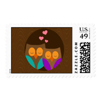 Owls in a Nest Postage