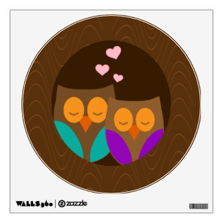 Owls in a Nest Room Decals