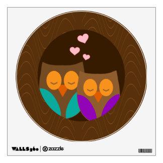 Owls in a Nest Wall Sticker
