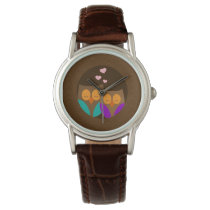 Owls in a Nest Wristwatch