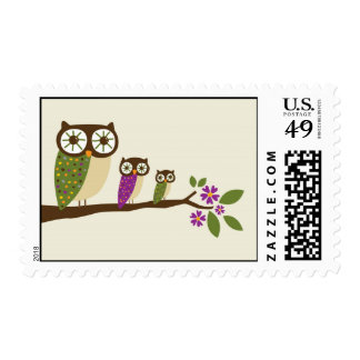 owls in a row postage
