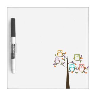 Owls in a Tree Dry Erase Whiteboards