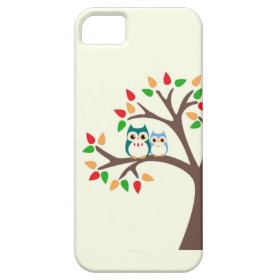 Owls in an all-season tree i Phone case iPhone 5 Cases