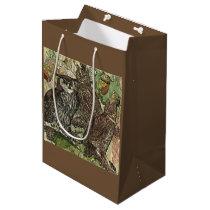 Owls in batik style Gift Bag - Medium, Matte