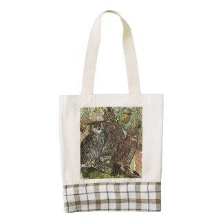 Owls in batik style Zazzle HEART Tote