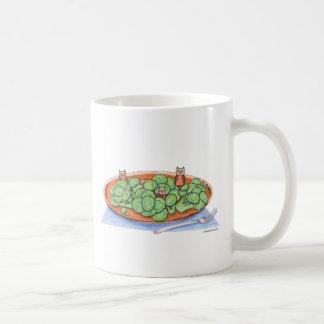 Owls in Broccoli Classic White Coffee Mug