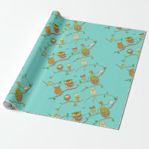 Owls in Forest wrapping paper