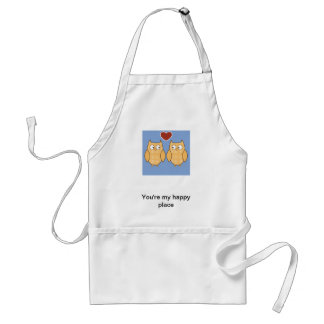 Owls in Love Aprons
