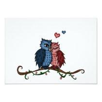 owls in love invitation