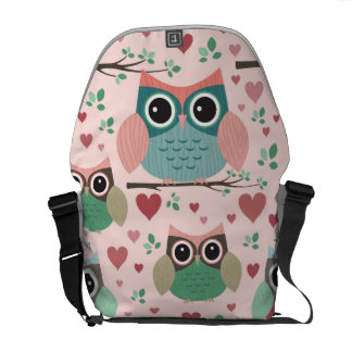 Owls in Love Messenger Bag