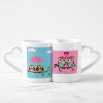 Owls in love mug set
