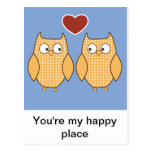 Owls in Love Postcards