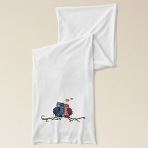 owls in love scarf