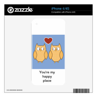 Owls in Love Skin For The iPhone 4