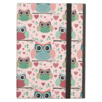 Owls in Love Woodland Creatures Pattern iPad Air Case