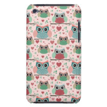Owls in Love Woodland Creatures Pattern iPod Touch Case