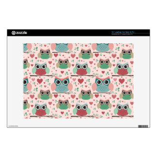 """Owls in Love Woodland Creatures Pattern Skins For 13"""" Laptops"""