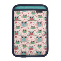 Owls in Love Woodland Creatures Pattern Sleeve For iPad Mini