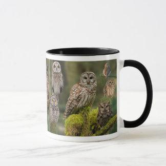Owls in Old Growth Mug