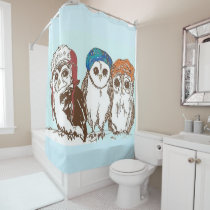 Owls in the Hood Shower Curtain