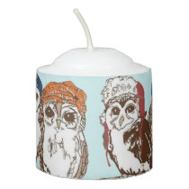 Owls in the Hood Votive Candle