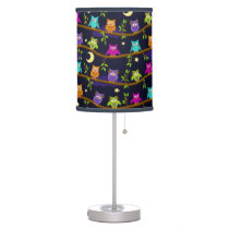 owls in the night desk lamp