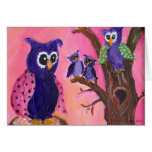 Owls in Trees Greeting Cards