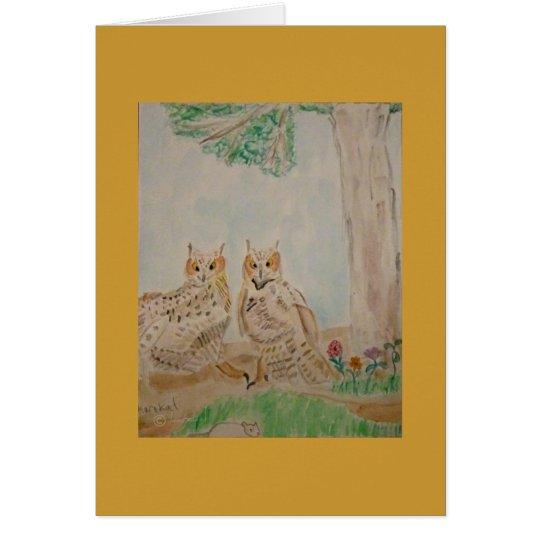 owls landing card