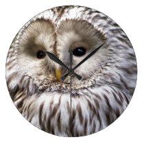 OWLS LARGE CLOCK