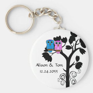 Owls - Love Bird Wedding Favors Keychain