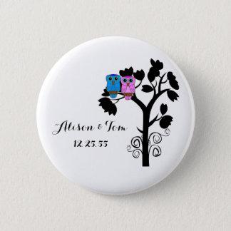 Owls - Love Bird Wedding Themed Favors Pinback Button