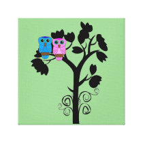 Owls - Love Birds - Cute Romantic Wall Art