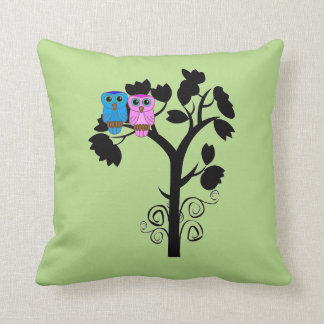Owls - Love Birds - Gift for Couple Pillow