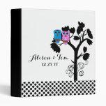 Owls - Love Birds - Wedding Scrapbook Folder 3 Ring Binder