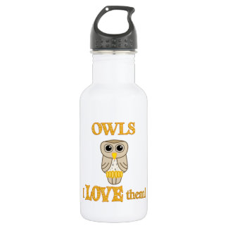 Owls Love Them Stainless Steel Water Bottle