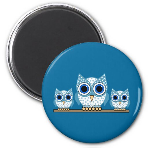 owls refrigerator magnets